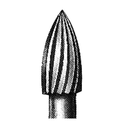 Picture of Dental-Burs - Tungsten Carbide 254 (Flame) FG (High Speed / 314) SSW 7108 Tungsten Carbide Burs, Flame Shape, ISO 254001 #23, Friction Grip Finishing, Made in UK, Each