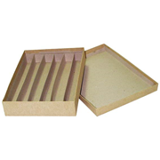 Picture of Histology Case, Recyclable Cardboard Material, 6 Compartments, 3cm Approx, Each Histology Case, Recyclable Cardboard Material, 6 Compartments, 3cm Approx, Each