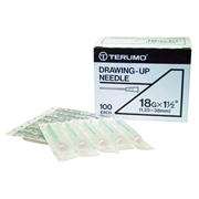 Picture of Needles-Drawing-Up Terumo Drawing Up Needle, 18 Gauge x 1.5 Inches, 38mm, 100 per Box