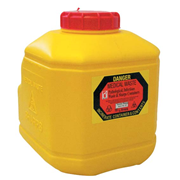 Picture of Sharps Disposal-Sharps Disposal Safes Mounting Brackets To fit Terumo Range Terumo Needles Sharps Waste Collector, 10L Capacity, with Lid, Yellow, Each (8BMY10CWSL)