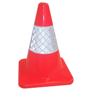 Picture of FIRST AID & SAFETY-SAFETY Workplace Safety Safety Cones Traffic Plain Cone PVC Orange, 45cm High with 15cm Reflective Collar Mid-section, Each