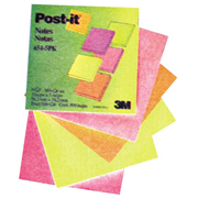 Picture of Dental-Office Supplies Post - It Products Neon Colours 3M 654-5SSAN Post-it Super Sticky Notes, 76 x 76mm, Assorted Electric Glow Colours, 90 Sheets per Pad, 5 Pads per Pack