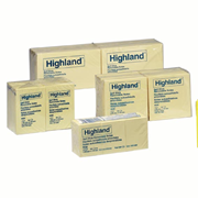 Picture of Dental-Office Supplies Post - It Products Highland Notes 3M 6559 Highland Notes, 73 x 123mm, Yellow, 100 Sheets per Pad, 12 Pads per Pack