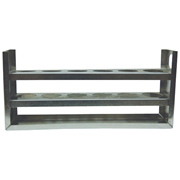 Picture of Laboratory Supplies-Test Tubes Accessories Racks Livingstone Test Tube Rack Stand, Metal, 28mm Test Tube Diameter, 6 Holes without Pegs, Each