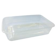 Picture of Universal Take-Away Rectangular Container, Base 500ml, Clear, Recyclable Plastic, 50 per Pack, 500 per Carton Universal Take-Away Rectangular Container, Base 500ml, Clear, Recyclable Plastic, 50 per Pack, 500 per Carton