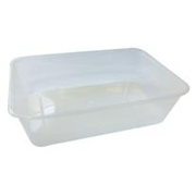 Picture of Universal Take-Away Rectangular Container Base Universal Take-Away Rectangular Container, Base, 650ml, Clear, Recyclable Plastic, 50 per Pack, 500 per Carton