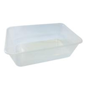 Picture of Universal Take-Away Rectangular Container, Base, 750ml, Clear, Recyclable Plastic, 50 per Pack, 500 per Carton Universal Take-Away Rectangular Container, Base, 750ml, Clear, Recyclable Plastic, 50 per Pack, 500 per Carton