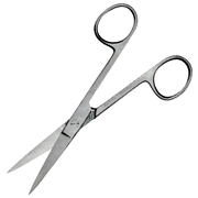 Picture of Scissors-Surgical Scissors Livingstone Nurses Surgical Scissors, 13cm, 29 Grams, Sharp/Sharp, Straight, Stainless Steel, Each