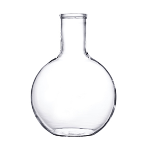 Picture of Isolab Flat Bottom Flask Isolab Flask, Spherical/Boiling, Flat Bottom, 1000ml, Clear, European Borosilicate Glass, 131mm Approximate Diameter, Each
