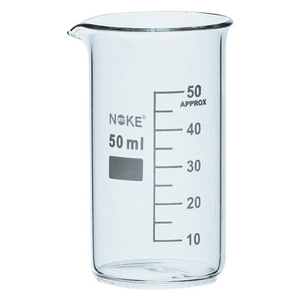 """Picture of Laboratory-Beakers - Glass Glass Tall Form, Graduated, """"Bomex"""" Bomex Beaker, 50ml, Tall Form, Graduated with Spout, Borosilicate Glass, Each"""