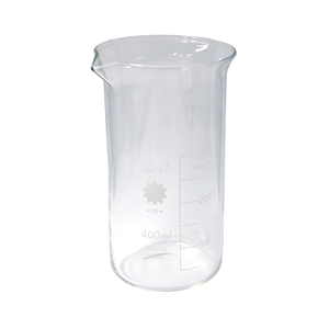 """Picture of Laboratory-Beakers - Glass Glass Tall Form, Graduated, """"Bomex"""" Bomex Beaker, 400ml, Tall Form, Graduated with Spout, Borosilicate Glass, Each"""
