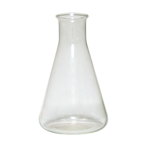 Picture of Laboratory-Flasks - Erlenmeyer (Conical) Graduated, Narrow Neck, Borosilicate Glass Livingstone Erlenmeyer Conical Flask, 250ml, Narrow Neck, 34mm Neck Diameter, Borosilicate Glass, Graduated, Each