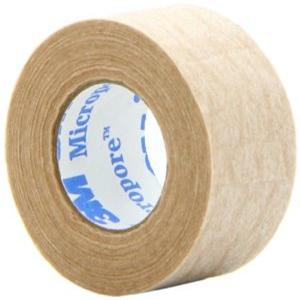 Picture of Healthcare-Surgical Supplies Surgical Tape Surgical 3M Micropore Surgical Paper Tape, Latex Free, 12mm x 9.1 metres, Biodegradable, Tan Colour, 24 per Box