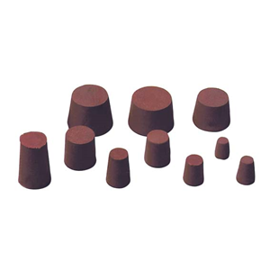 Picture of Laboratory Consumables-Stoppers Rubber, Solid Solid Rubber Stopper 15mmm Base x 18mm Top x 20mm Height, 10 per Pack