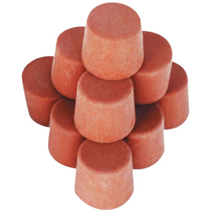 Picture of Laboratory Consumables-Stoppers Rubber, Solid Solid Rubber Stopper, 20mm Base x 25mm Top x 24mm Height, 10 per Pack