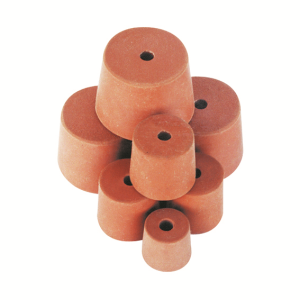 Picture of Livingstone Rubber Stopper One Hole Rubber Stopper, One Hole, 16mm Base x 19mm Top x 19mm Height, Each