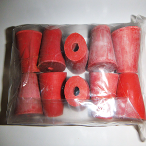 Picture of Livingstone Rubber Stopper One Hole Rubber Stopper, One Hole, No. 7, 23mm Base x 28mm Top x 30mm Height, 10 per Pack