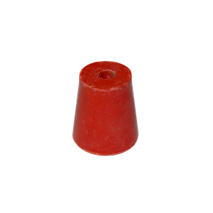 Picture of Laboratory Consumables-Stoppers Rubber, Single Hole Rubber Stopper, One Hole, 5mm Base x 28mm Top x 30mm Height, Loose