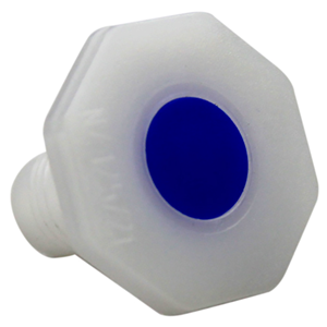 Picture of Plasticware-Stoppers/Caps Octagon Knob Stopper, Octagon, 12/21 Knob Socket Joint, Recyclable Polyethylene, European, Each