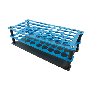 Picture of Plasticware-Racks Test Tube Racks Aptaca Test Tube Rack Stand, Recyclable PP, 18mm Test Tube D, 50 Holes, Autoclavable, Stackable, Alphanurmeric Embrossed Grid,Each