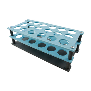 Picture of Plasticware-Racks Test Tube Racks Aptaca Test Tube Rack Stand, Recyclable PP, 25D mm, 18 Holes, 235x110x75 mm, Autoclavable, Stackable, Alphanumeric Embrossed Grid, Ea