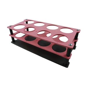 Picture of Plasticware-Racks Test Tube Racks Aptaca Test Tube Rack Stand,Recyclable PP,40mm Test Tube D,8 Holes,235x110x75 mm,Autoclavable,Stackable,Alphanumeric Embrossed Grid,Each