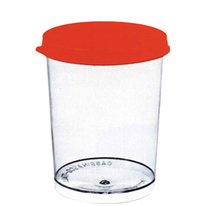 Picture of Plasticware-Containers Urine Containers Polystyrene with Cap and Label Urine Container PS 150ml Recyclable Plastic cap IND Wrapped, Sterile 10 per Pack