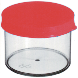 Picture of Laboratory Consumables-Sputum Containers Plastic Sputum Container, 60m, 34 x 60mm, with Press Cap, Recyclable Polystyrene, 30 per Set