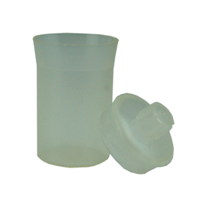 Picture of Plasticware-Bottles Weighing Bottles Polyethylene, with Lid Aptaca Weighing Bottle, 30ml, 50mm Height x 30mm Diameter, Semi-transparent, Polypropylene, Autoclavable, Each