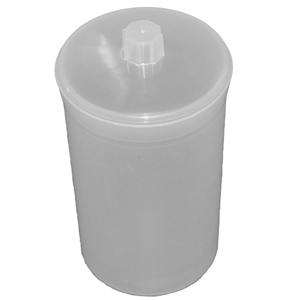 Picture of Plasticware-Bottles Weighing Bottles Polyethylene, with Lid Aptaca Weighing Bottle, 400ml, 120mm Height x 70mm Diameter, Semi-transparent, Polypropylene, Autoclavable, Each