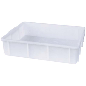 Picture of Plasticware-Stackable Tanks High Density Polyethylene Stackable Tank (Deep Tray), 10L, 420 Length x 320 Width x 100mm Height, Each