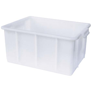 Picture of Plasticware-Stackable Tanks High Density Polyethylene Aptaca Stackable Tank (Deep Tray), 50L, 625 Length x 365 Width x 285mm Height, HDPE, Each