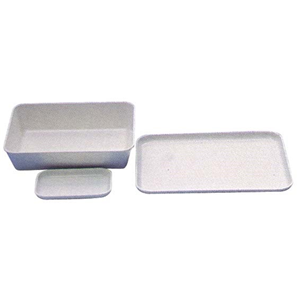 Picture of Aptaca Plastic Trays & Tanks Aptaca Recyclable Plastic Trays Tanks, 350 x 250mm, 40mm Height, High Impact Polystyrene, Food and Lab Use, 10 per Carton