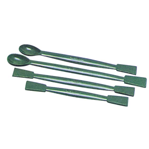 Picture of Laboratory Supplies-Spatulas 1 Flat end and 1 Spoon Livingstone Spatula, 150mm, 2 Flat Ends, Recyclable Polypropylene, 10 per Pack
