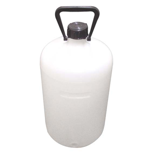 Picture of Plasticware-Carboys Narrow Mouth High Density Polyethylene with Screw Cap Aptaca Storage Bottle with Inner Cap and Handle, 20L, Narrow Neck, HDPE, Each