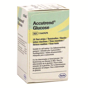 Picture of Diagnostic Supplies-Glucose Monitoring Supplies Glucose Test Strips Accutrend Glucose Strips, 25 Strips per Pack