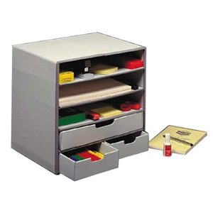 Picture of Dental-Office Supplies Filing & Storage Products Storage Boxes Marbig Storage Box, 37 x 36 x 29 cm, Grey, Each