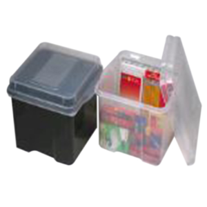 Picture of Laboratory Consumables-Storage Box Plastic, Clear Marbig Plastic Storage Box with Lid, Clear, Each