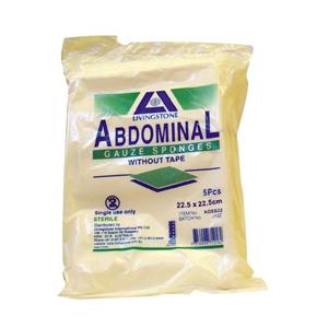 Picture of Multigate Abdominal Gauze Sponge Sterile Standard Fold Abdominal Gauze Sponge, without Tape, 22.5cm, Sterile, 5 per Pack, 60 per Carton