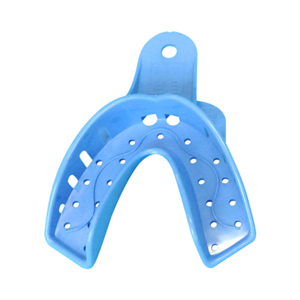 Picture of Ainsworth Disposable Dental Impression Trays Lower Ainsworth Dental Impression Trays, Lower, Large, Blue, Disposable, Recyclable Plastic, 12 per Pack