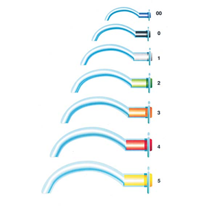 Picture of First Aid & Safety Supplies-Emergency And Rescue GUEDEL AIRWAY Airway Guedel, Size 00, Sterile, Length: 45mm, Needle Dimension: 36mm, Blue, (GA-9200), Each