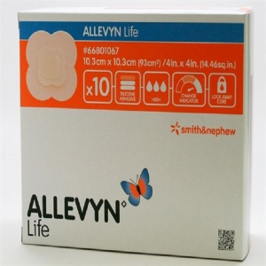 Picture of Allevyn Life Adhesive Foam Dressing Allevyn Life Adhesive Foam Dressings, Small, 10.3 x 10.3cm, 10 per Box
