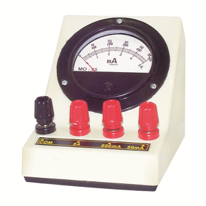 Picture of Laboratory-Ammeters Livingstone Ammeter, Triple Range, 0 - 50mA/0 - 500mA/0 - 5A, Square, Each