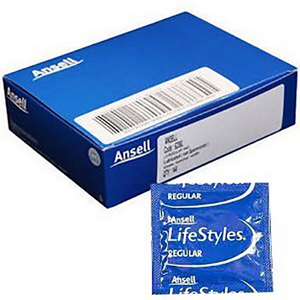 Picture of Ansell Condom Ansell Non Lubricated Condom, 12 per Pack (437751)