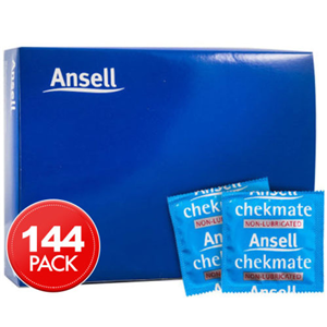 Picture of Ansell Condoms Non Lubricated Ansell Chekmate Non-Lubricated Condoms 52mm, 144/Box