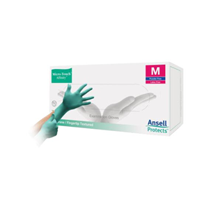 Picture of Ansell Micro-Touch Affinity Neoprene Gloves Ansell Micro-Touch Affinity Neoprene Gloves, Medium, Green, Biodegradable Latex Free, 100 per Box