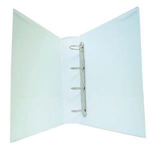 Picture of Hair & Beauty-Office Supplies Filing & Storage Products Ring Binders Insert Binders Bantex Insert Ring Binder, A4, 25mm, 4 D-Rings, White, Each
