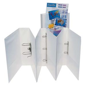 Picture of School-Livingstone Office Filing & Storage Folders, Dividers & Binders Binders Insert Binders Bantex Insert Ring Binder, A4, 50mm, 2 D-Rings, White, Each