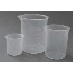Picture of Plasticware-Beakers Polypropylene, Low Form Livingstone Beaker, 1000ml, Low Form, with Spout, Recyclable Polypropylene, Each