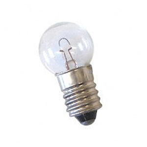 Picture of Livingstone Light Globe Torch Bulbs Livingstone Light Globe Torch Bulbs, Small Round Miniature Edison Screw Type (MES), 6.2volts, 0.3amps, 10 per Packet